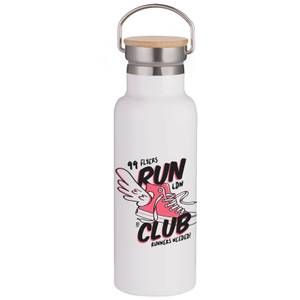 Run Club Portable Insulated Water Bottle - White