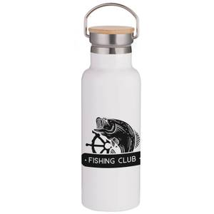 Fishing Club Portable Insulated Water Bottle - White