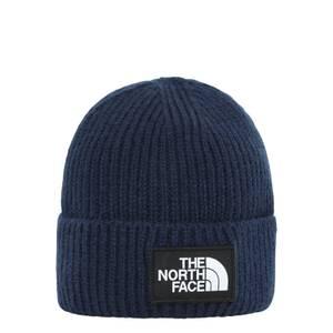 The North Face Logo Box Cuffed Beanie - Navy