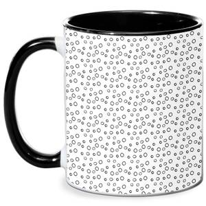 Small Circles Mug - White/Black