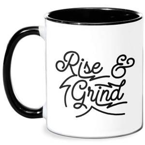 Rise And Grind Mug - White/Black