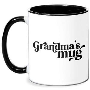 Grandma's Mug Mug - White/Black