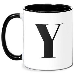 Y Mug - White/Black