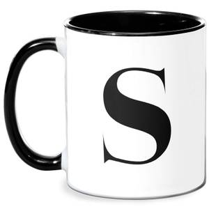 S Mug - White/Black