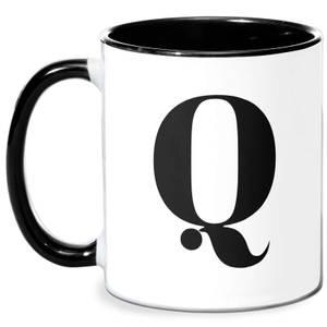Q Mug - White/Black