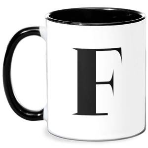 F Mug - White/Black