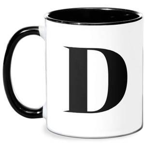 D Mug - White/Black