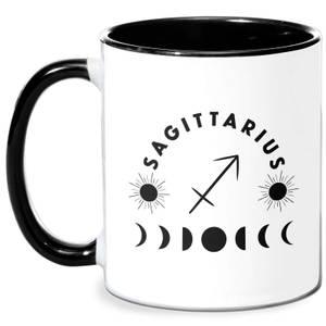Sagittarius Mug - White/Black