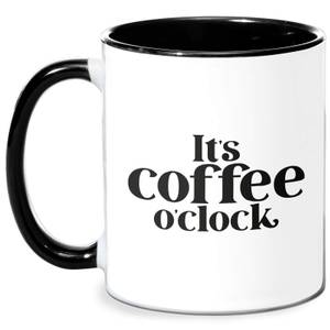 It's Coffee O'Clock Mug - White/Black