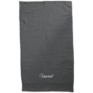 Unwind Embroidered Towel