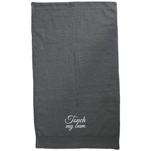 Touch My Bum Embroidered Towel