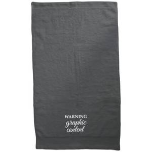 Warning Graphic Content Embroidered Towel