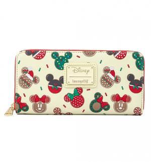 Loungefly Disney Portefeuille Mickey et Minnie Cookies de Noël