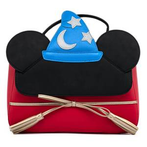 Loungefly Disney Fantasia Sorceror Mickey Cosplay Crossbody Bag