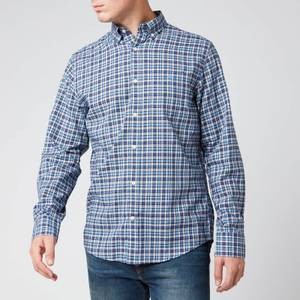 Gant Men's Tartan Shirt - Pacific Blue