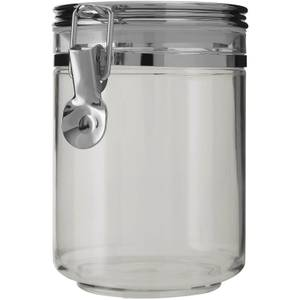 Gozo Round Canister - Silver Finish Lid - Medium