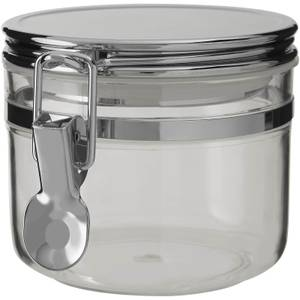 Gozo Round Canister - Silver Finish Lid - Small