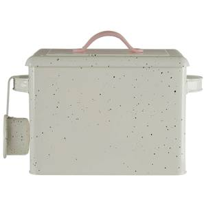 Sweet Heart Detergent Box And Scoop - Chrome/Black Speckle