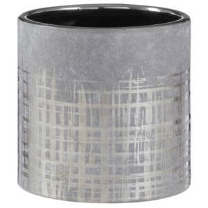 Embra Ceramic Planter - Grey/Silver