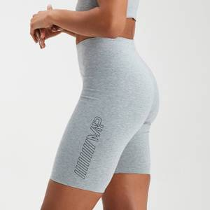 MP Women's Outline Graphic Cycling Shorts - Grey Marl