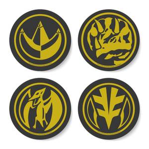 Power Rangers Dino Coin Coaster Set