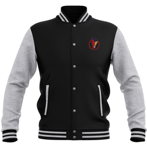 Power Rangers Bolt Patch Varsity Jacket - Black