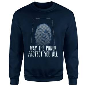 Sweat-shirt Power Rangers May The Power Protect You - Bleu Marine