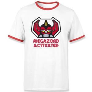 T-shirt Ringer Power Rangers Megazord Activated - Blanc/Rouge - Unisexe