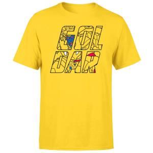 Power Rangers Goldar Text Men's T-Shirt - Yellow