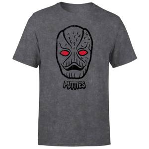 T-shirt Power Rangers Putty Face - Noir Acid Wash - Homme