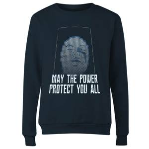 Sweat-shirt Power Rangers May The Power Protect You - Bleu Marine - Femme
