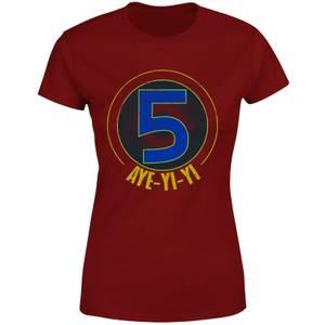 T-shirt Power Rangers Alpha-5 Logo - Burgundy - Femme