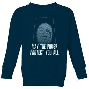 Sweat-shirt Power Rangers May The Power Protect You - Bleu Marine - Enfants