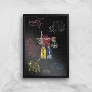 Poster Fine Art Power Rangers Megazord