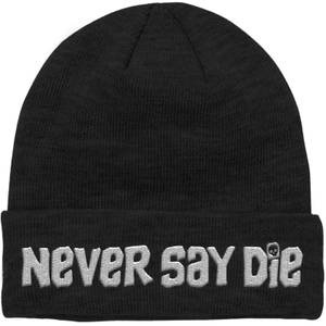 The Goonies Never Say Die Embroidered Beanie - Black