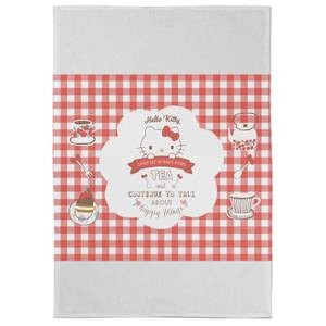 Hello Kitty Let Us Have Some Tea Tea Towel