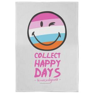 Smiley Collect Happy Days Tea Towel