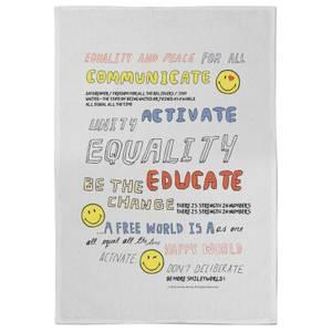 Smiley Motivation Tea Towel