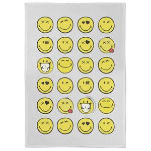 Smiley Multiple Smiles Tea Towel
