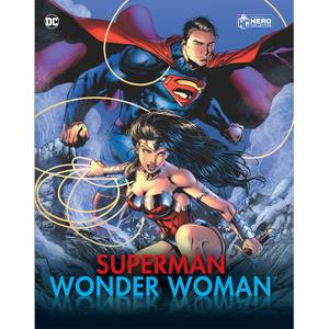 Eaglemoss DC Comics Superman and Wonder Woman Illustrated Guide - Includes 2 Figures