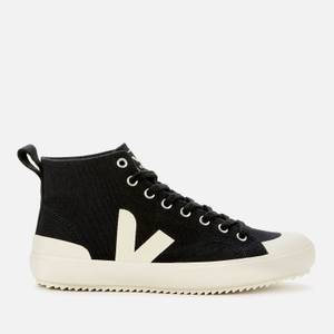 Veja Women's Nova Canvas Hi-Top Trainers - Black/Pierre