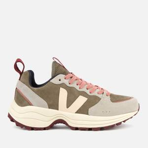 Veja Women's Venturi Suede Running Style Trainers - Khaki/Sable/Oxford Grey