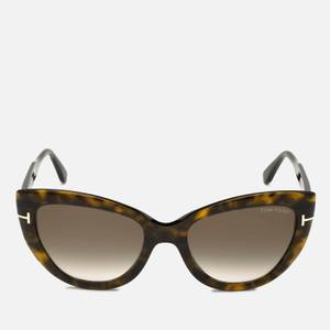 Tom Ford Women's Cat Eye Acetate Sunglasses - Light Brown/Green