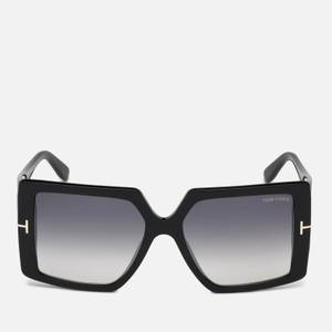 Tom Ford Women's Quinn Square Frame Sunglasses - Black/Smoke