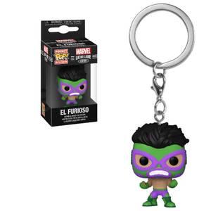 Marvel Luchadores Hulk Pop! Keychain