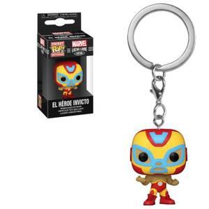 Marvel Luchadores Iron Man Pop! Keychain