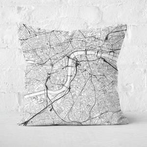 London City Map Square Cushion