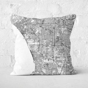 LA City Map Square Cushion