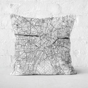 Munich City Map Square Cushion