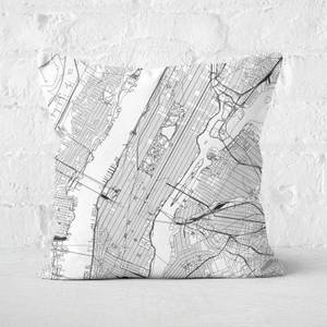New York City Map Square Cushion